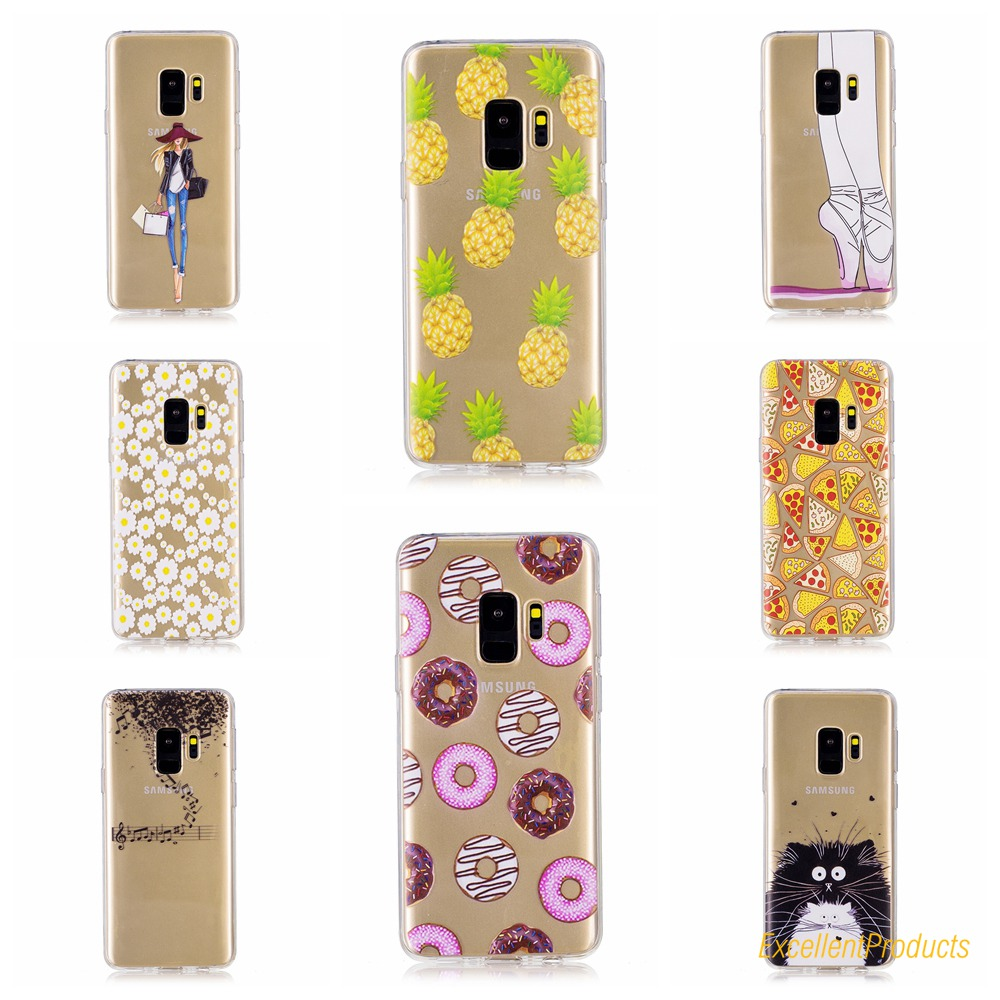 high quality Silicone TPU Case For Samsung S9 phone cases Luxury Printed Back Cover Coque For Samsung S9 funda etui