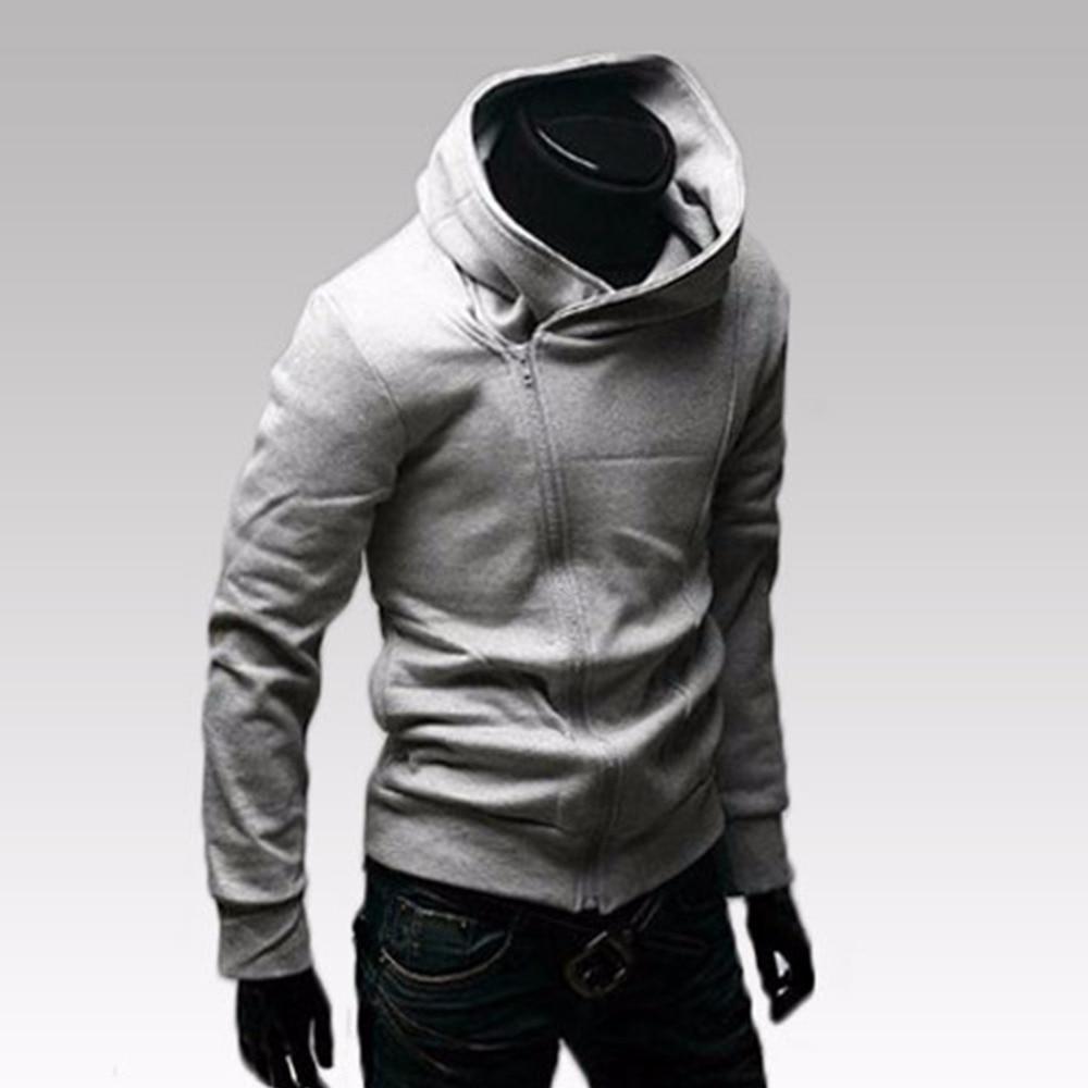 Повседневное одноцветное Для мужчин s толстовки Для мужчин Толстовка Осень Slim Fit мужской спортивный костюм с капюшоном корейский стиль хлоп...