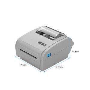 Image 2 - 9210U משולב שולחן העבודה 110mm נייר תרמי מדפסת ברקוד USB BT תווית מדפסת תקשורת ממשק תווית יצרנית