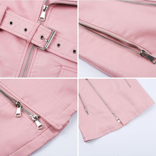 PU Leather Women Dress Spring Summer Fashion Sashes Zipper Vintage Mini Dresses Slim Sexy V Neck Zipper Short Sundress
