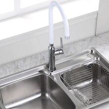Латунь Кухня раковина кран 360 градусов Поворот одной ручкой хром смеситель раковины белый, черный, зеленый