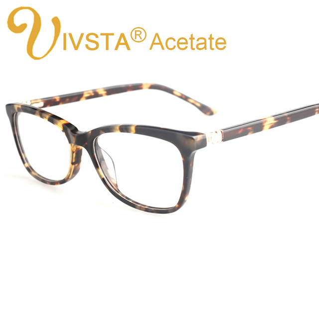 IVSTA Real Handmade Acetate Glasses Women Optical Frame Butterfly Really Acetate Frames Prescription Eyewear Myopia diamond 8813