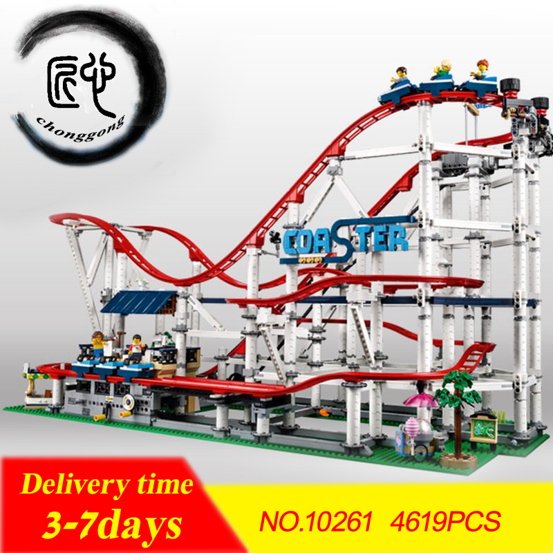 New 4619PCS The roller coaster fit legoings 10261 city creator technic figures Buidling Blocks Bricks Kid diy Toys birthday gift