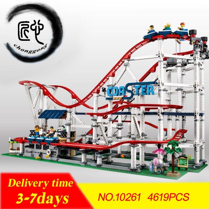 Nuovo 4619 pz Il roller coaster fit legoings 10261 città creatore technic figure Buidling Blocks Mattoni Bambini fai da te Giocattoli di compleanno regalo