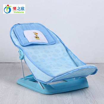 Foldable Baby Bath Tub Bed Pad Bathtub Bath Chair Shelf Baby Shower Nets  Newborn Baby Bath Seat Infant Bath Bathtub Support