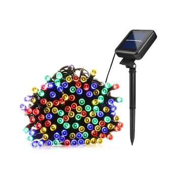 LED Solar Lawn Lamps Gerlyanda Fairy Lights Rechargeable Power Waterproof Outdoor Lightings 50/100/200 LEDs Christmas Decoration String Lights