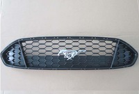 Front Center Mustang Grill Grid Grille Bezel Honeycomb Mesh Cover For Ford Fusion 2013 2014 2015