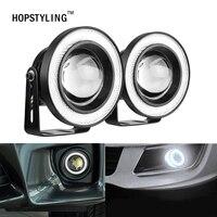 HOPSTYLING 2pcs Lot 3 5inch 89mm Halo Fog Lamp LED COB Angel Eyes Foglight Super White