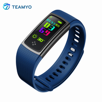 Teamyo S9 Color Screen Smart Bracelet Bluetooth Band Heart Rate Blood Pressure Waterpoof Monitor Smart Wristband