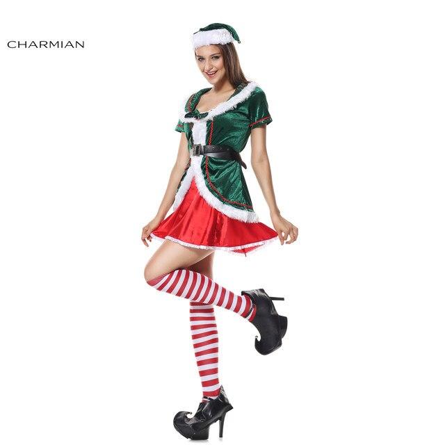 Charmian Womenu0027s Sexy Christmas Costume Santa Claus Elf Costume Mini Dress Cutie Holiday Honey Helper Fairy for Girls  sc 1 st  Aliexpress & Online Shop Charmian Womenu0027s Sexy Christmas Costume Santa Claus Elf ...