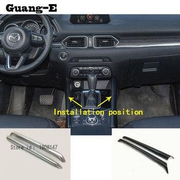 Etiqueta engomada del coche interior medio freno de mano Cambio puesto paleta taza interruptor embellecedor de marco para Mazda CX-5 CX5 2nd Gen 2017, 2018, 2019, 2020