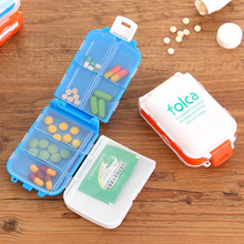 mini novelty 8 grid folding pill case portable travel pill organizer weekly holder jewely candy storage container
