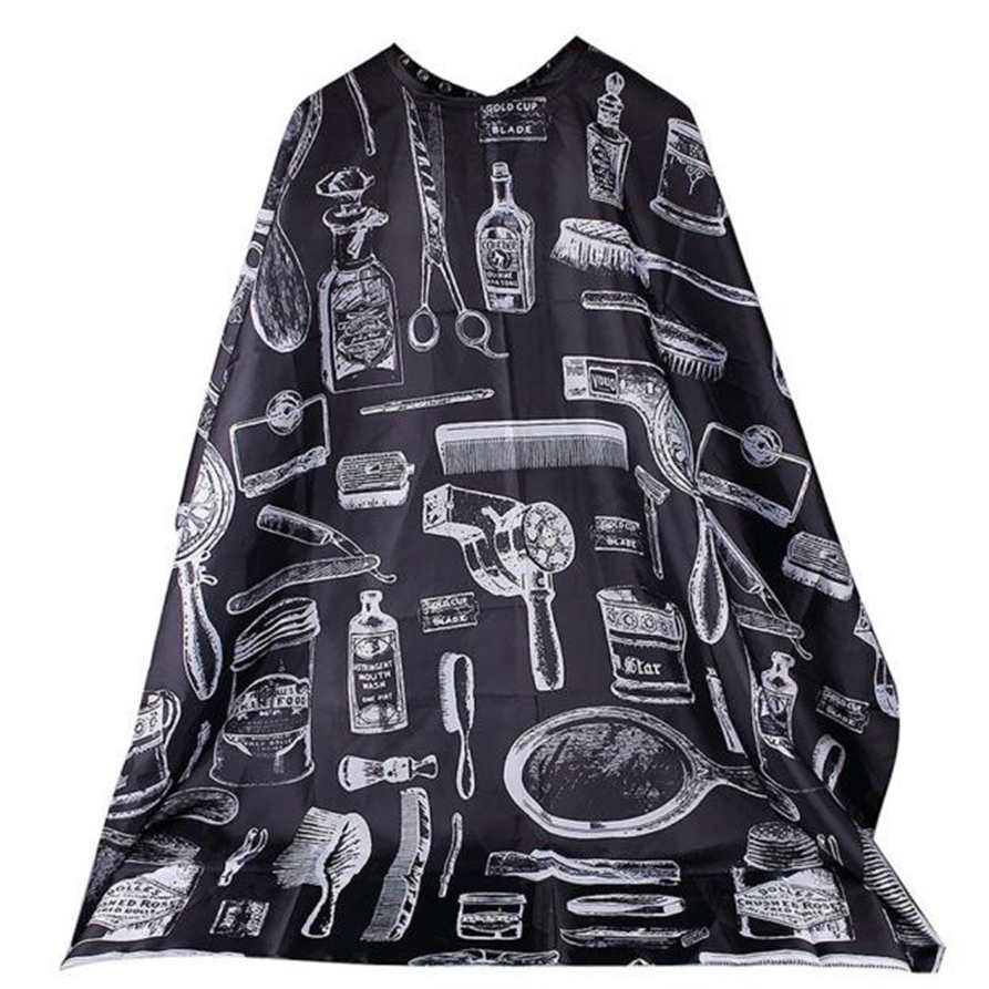 Best Deal New Good Quality Hairdresser Apron Cartoon Pattern Cutting Hair Waterproof Cloth Salon Barber Cape Hairdressing 1PCJul ...