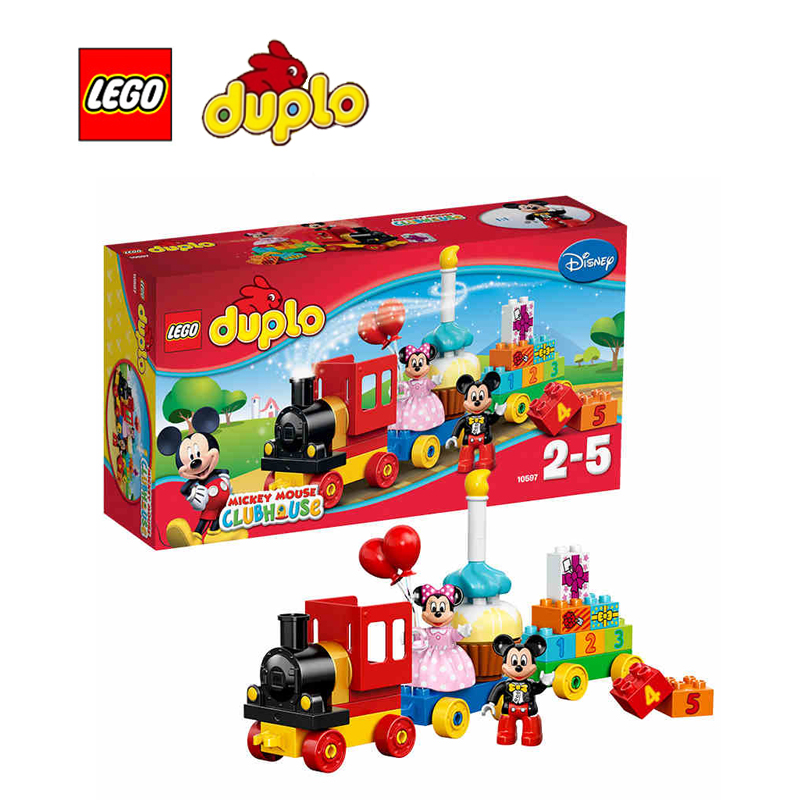 ФОТО LEGO Duplo Mickey & Minnie Birthday Parade Architecture Building Blocks Model Kit Plate Educational Toys For Children L10597