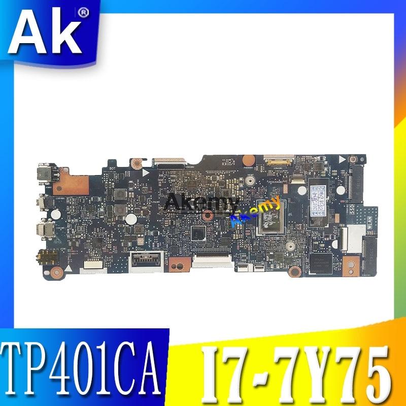 TP401CA Laptop Motherboard For ASUS VivoBook Flip 14 TP401CA TP401C TP401CA7Y30 Mainboard 128GB SSD i7 7Y75