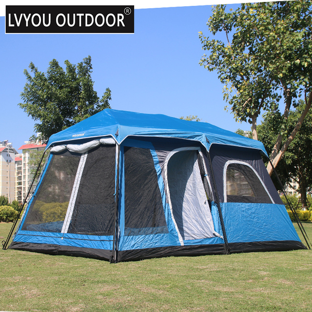 LVYOU OUTDOOR 4-6-8 Persong 2 room and 1 living room Family c&ing : easy to set up tents - memphite.com