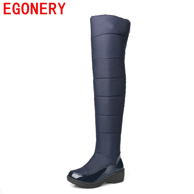 EGONERY shoes 2017 women boots autumn winter snow boots over knee high boots fashion shoes woman water high boots cold winter snow boots free delivery of autumn and winter high quality 100