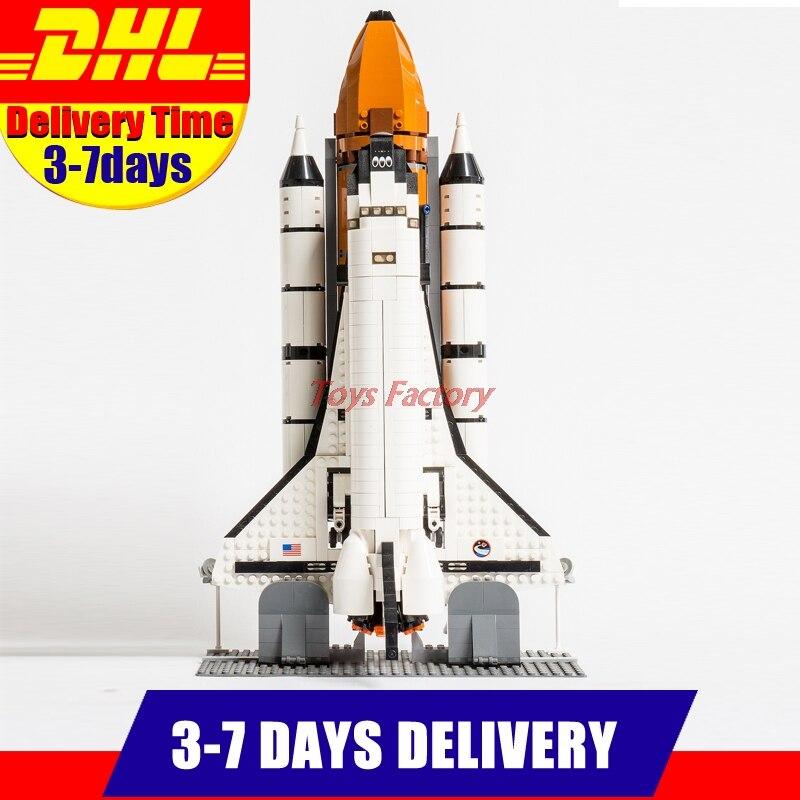 купить 2017 DHL LEPIN 16014 1230Pcs Out of Print Space Shuttle Expedition Model Building Kits Set Blocks Bricks Children Toy 10231 недорого