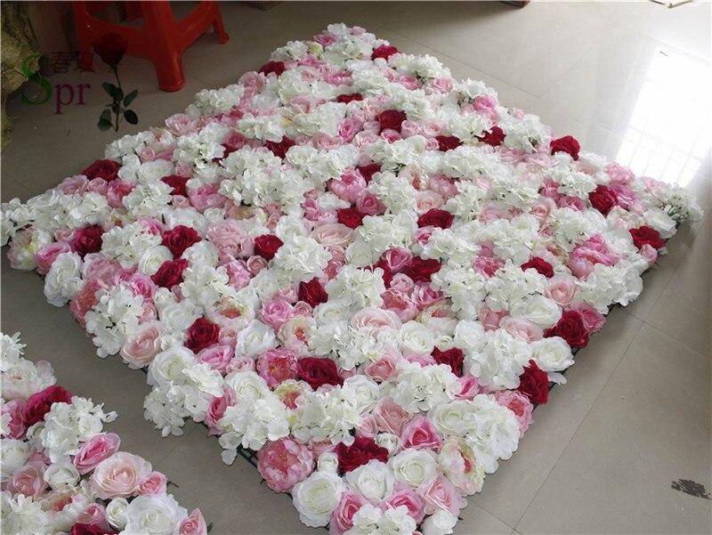 SPR livraison gratuite 10 pcs/lot rose artificielle pivoine & hortensia meilleure fleur décoration murale jamais mariage toile de fond arc table fleur