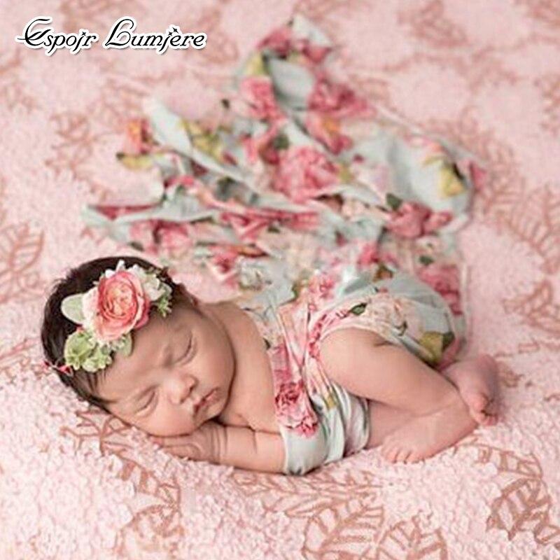 100*150cm Newborn Fashion Baby Blanket Photo Newborns Flower Swaddle Stroller Bedding Wrap Baby Sleeping Swaddle Muslin Wrap