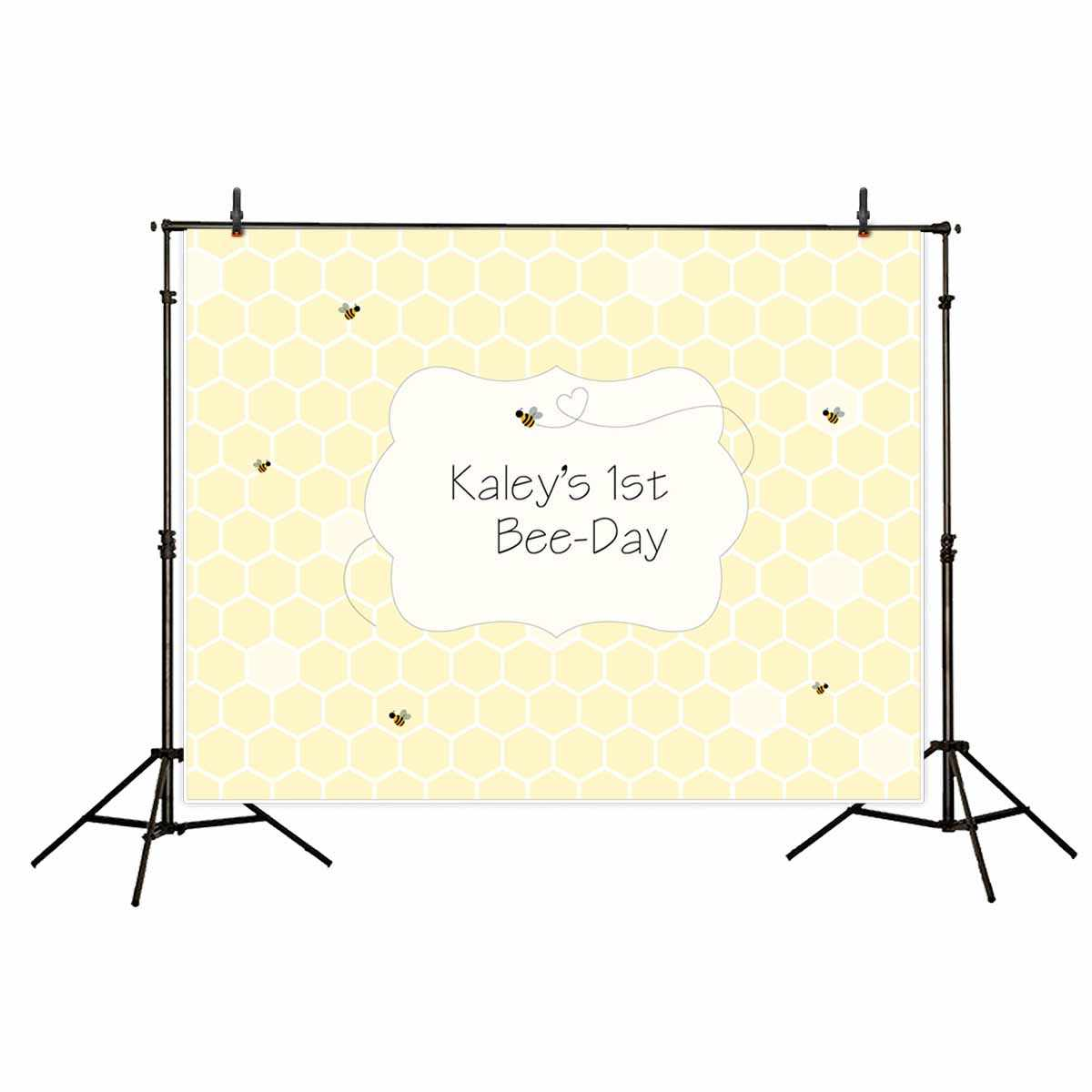 Allenjoy photography backdrops lovely baby birthday backdrop yellow Bee hive custom  background vinyl for photography