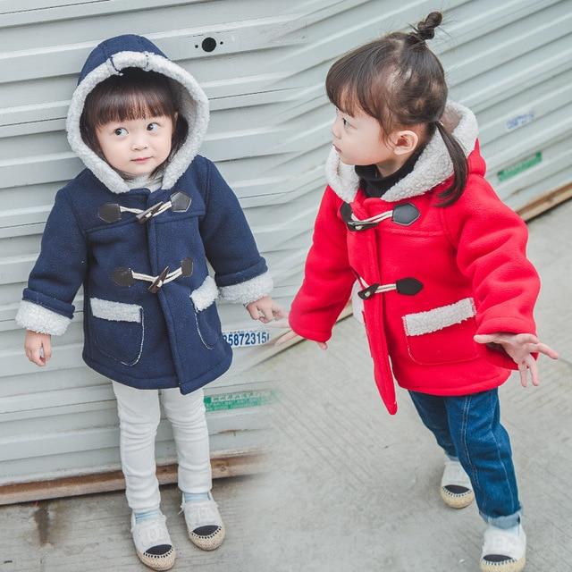 2016 новый зимний вниз пальто для девочек плюс бархат куртку шерстяное пальто девочка шерстяное пальто дети пуховик детская одежда BC-SY461