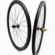 700c углерода дорожный диск колёса бескамерная клинчерная покрышка 38 мм диск Велосипедный спорт колёса et 100×15 142×12 дисковый тормоз 1580 г 3 К UD