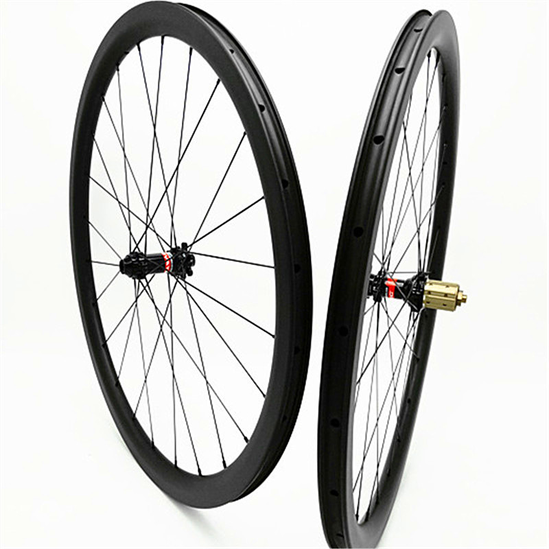 Ruota di bicicletta 700c wheelset 38 millimetri di carbonio ruota D411 412SB freno A Disco 24 28 H XD hub 1580g di carbonio wheelset 700c copertoncino tubeless