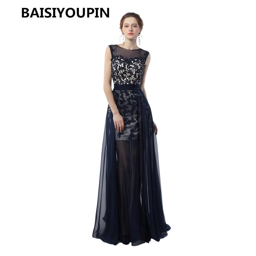 uk availability 5b62b aba35 US $182.34 |Evening Dresses Long 2019 Abiti Da Cerimonia Donna Sleeveless  Modest A Line Cap Sleeves Prom Dresses-in Evening Dresses from Weddings &  ...