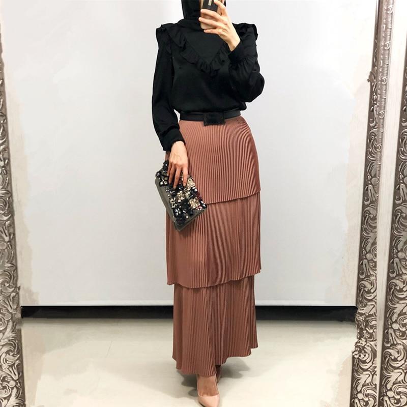 Kaftan Abaya Turkey Muslim Skirt Women Caftan Marocain Islamic Skirts Jilbab Femme Musulman Clothing