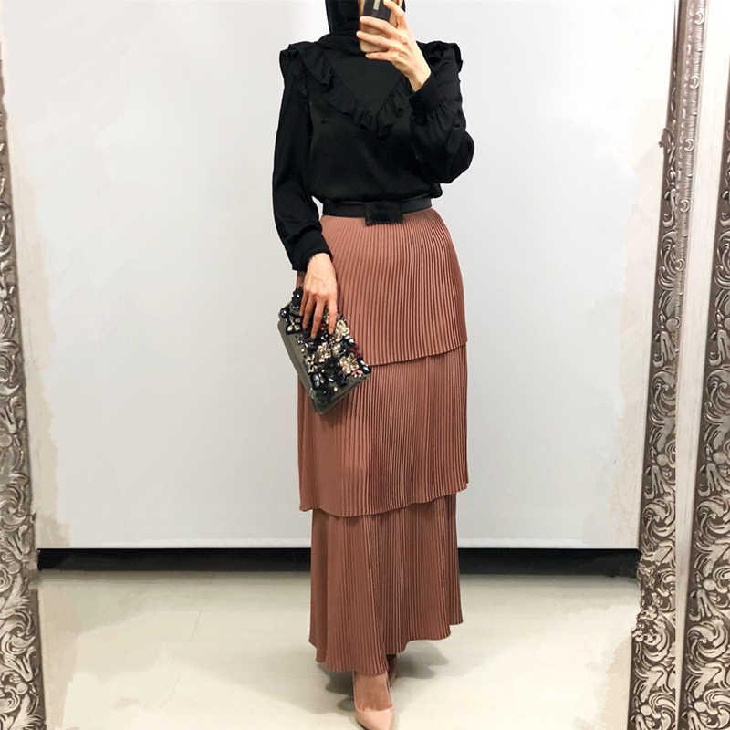 Kaftan Abaya turcja muzułmańska spódnica kobiety Kaftan Marocain islamskie spódnice Jilbab Femme Musulman odzież