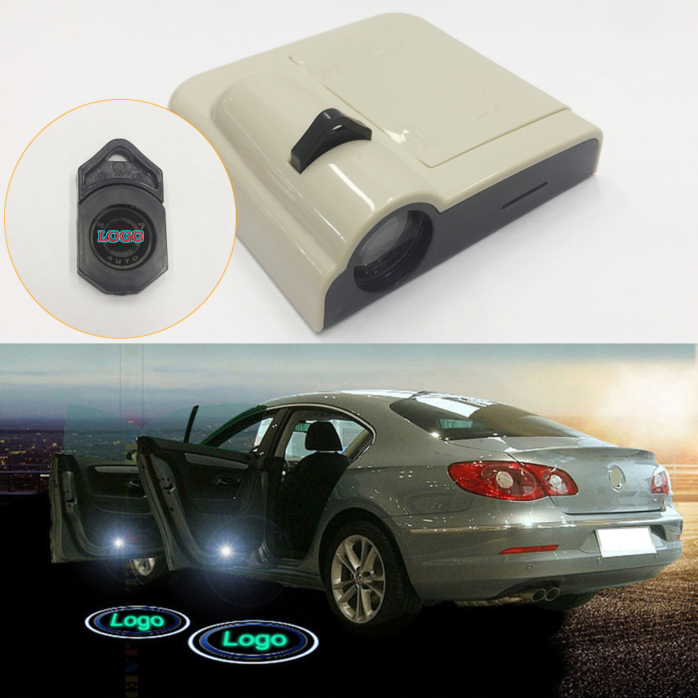 2PC Wireless Battery Ghost Light Door Welcome Light Case For SCANIA Laser Projector Logo Ghost Shadow Light Universal