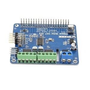 Image 3 - Raspberry Pi 4 Motor HAT Full function Robot Expansion Board for Raspberry Pi 4/Pi 3B+/3B (Stepper / Motor / Servo/ IR Remote)