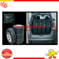 Universal Car Spare Tire Cover for SUV Polyester Tyre Cove black wheel accessories 4pcs/set 13inch-19inch size