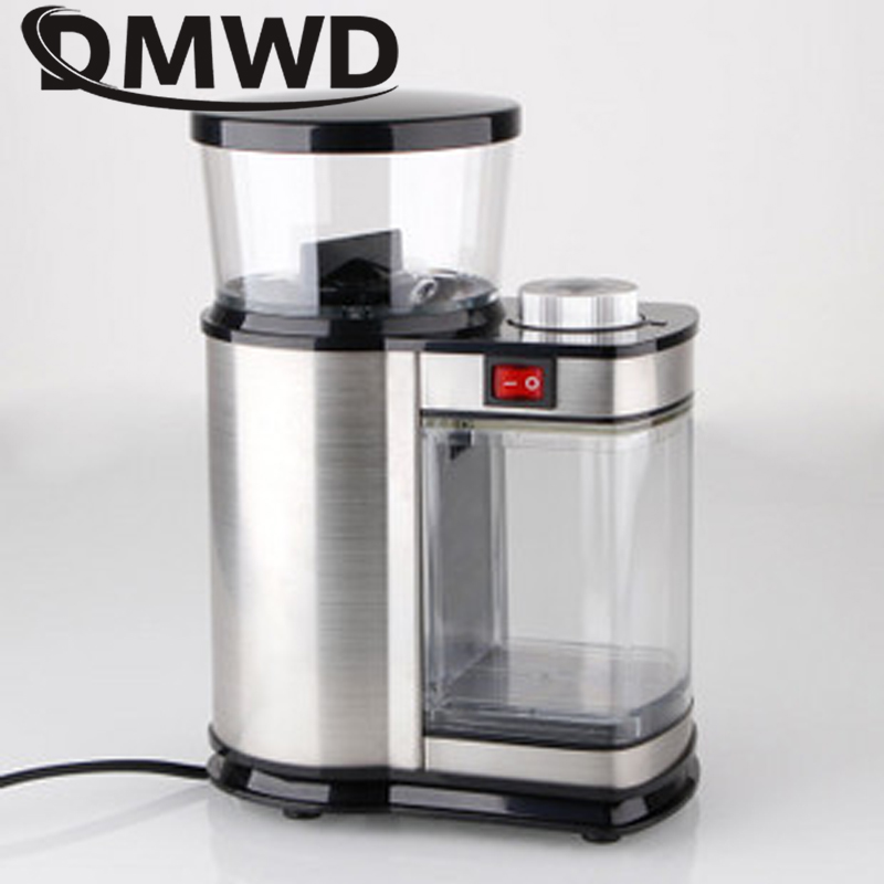 DMWD Electric Stainless Steel Coffee Grinder 350g Burr Mill Italian Cafe Bean Nut Seeds Ultrafine Dry Grinding Machine 110V 220VDMWD Electric Stainless Steel Coffee Grinder 350g Burr Mill Italian Cafe Bean Nut Seeds Ultrafine Dry Grinding Machine 110V 220V