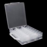 FSHALL Nail Polish Holder Display Container Organizer Storage Box Case 48 Lattice Pro