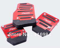 1set Red Non Slip Universal Car Racing Sports Pedals Accelerator Pedal
