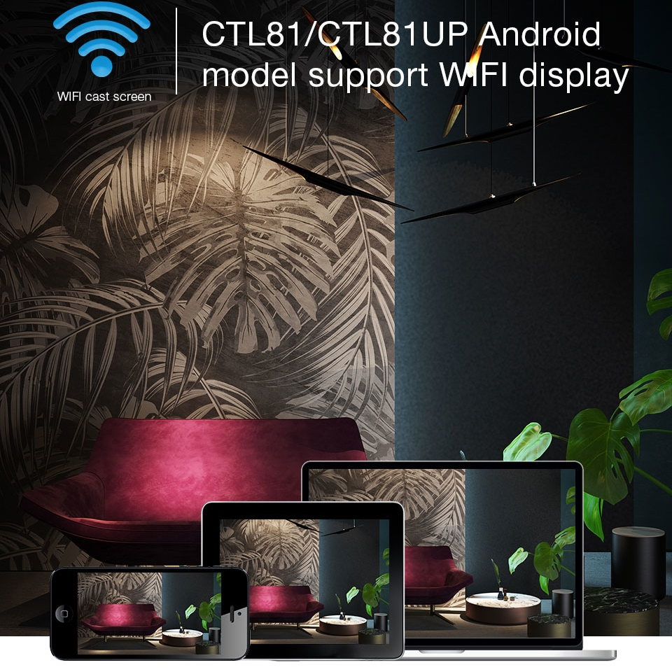 WZATCO CTL80 Android 6 Wifi inteligente portátil Mini LED 3D TV proyector soporte Full HD 1080 p 4 K Video casa teatro Proyector - 5