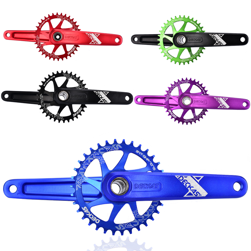 DECKAS Mtb Crankset For SRAM XX1 XO X9 Narrow Width Chainring Al 7075 CNC Bike Crankset With Bottom Bracket 6 Colors cnc alloy mtb bike bicycle chain bash guard mount chainring guide 30 40t p c d 104mm bike crankset protection