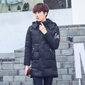 Designer de casaco de inverno parka espessamento longos casacos com capuz jaqueta de inverno Fino casaco para baixo dos homens jaqueta de algodão ocasional dos homens