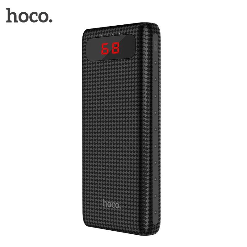 imágenes para HOCO 20000 mAh Banco de la Energía de Carga Rápida 18650 Bttery Dual USB Powerbank cargador Con Micro USB y Luz LED para Xiaomi para El Iphone