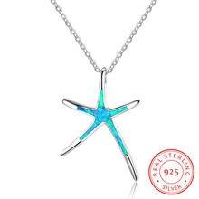 S925 Стерлинговое s образное синее женское ожерелье летняя мода