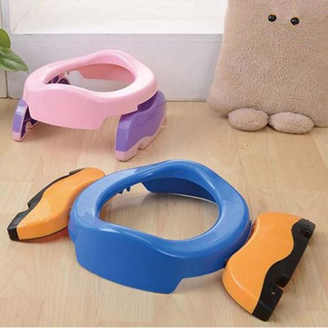 Baby plastic toilet seat seat bedroom flower pot ring children's trainer portable potty toilet folding comfortable seat