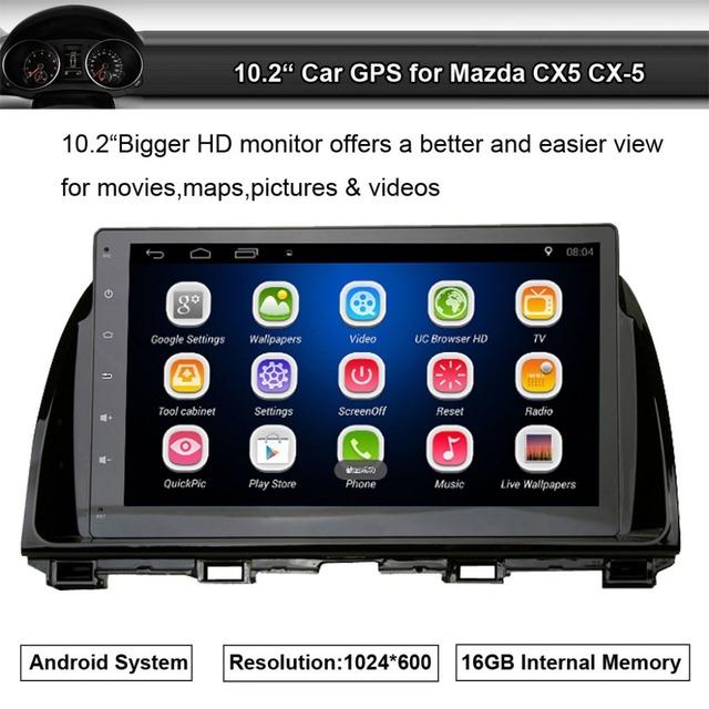 Som do carro Jogador de Rádio Aplicar a Mazda 6 CX5 Espelho de Navegação GPS com Wifi Bluetooth Celular Link