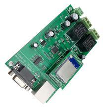 2Gang WiFi ağ röle kontrol akıllı ev otomasyon PCBSwitch modülü uzaktan kumanda güvenlik Domotica Ethernet RS232