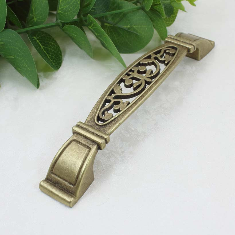 128mm antique brass kitchen cabinet handle pull bronze drawer dresser cupboard wardrobe door pulls 5 vintage furniture handle