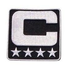 Капитан знак C патч железо или шитье для футбола, из Джерси Бейсбол Футбол Хоккей Лакросс Баскетбол табличка патч