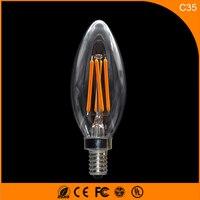 50 шт. E14 светодиодные лампы C35 3 Вт светодиодные свечи накаливания лампы 360 градусов свет лампы Винтаж подвесные светильники AC110V
