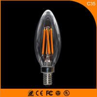50PCS E14 LED Bulbs C35 3W LED Filament Candle Bulbs 360 Degree Light Lamp Vintage pendant lamps AC110V