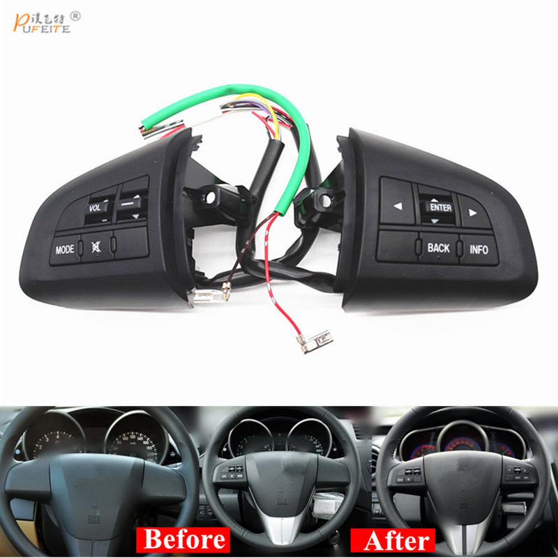 steering wheel button for Mazda 3 CX 5 CX 7 switch standard buttons or for bluetooth